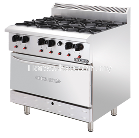Stainless Steel Deluxe Range With Open Burner (DRO6-17)