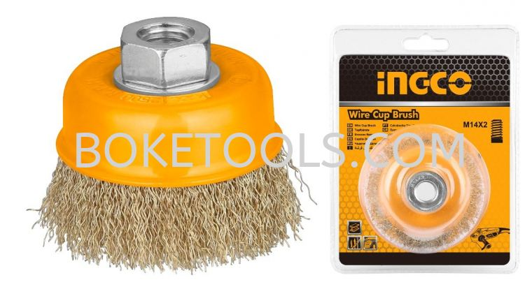 """INGCO WB10751 3"""" Wire Cup Brush WIRE CUP BRUSH POWER TOOLS ACCESSORIES POWER TOOLS - INGCO"""