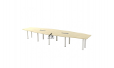 HOL-BBC30 BOAT SHAPE CONFERENCE TABLE Conference Table Office Working Table Office Furniture