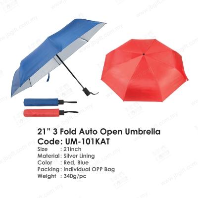 21'' 3 Fold Auto Open Umbrella UM-101KAT