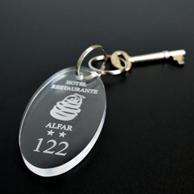 Acrylic Key Chain Oval