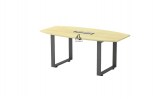 HOL-SQBB18 BOAT SHAPE CONFERENCE TABLE Conference Table Office Working Table Office Furniture