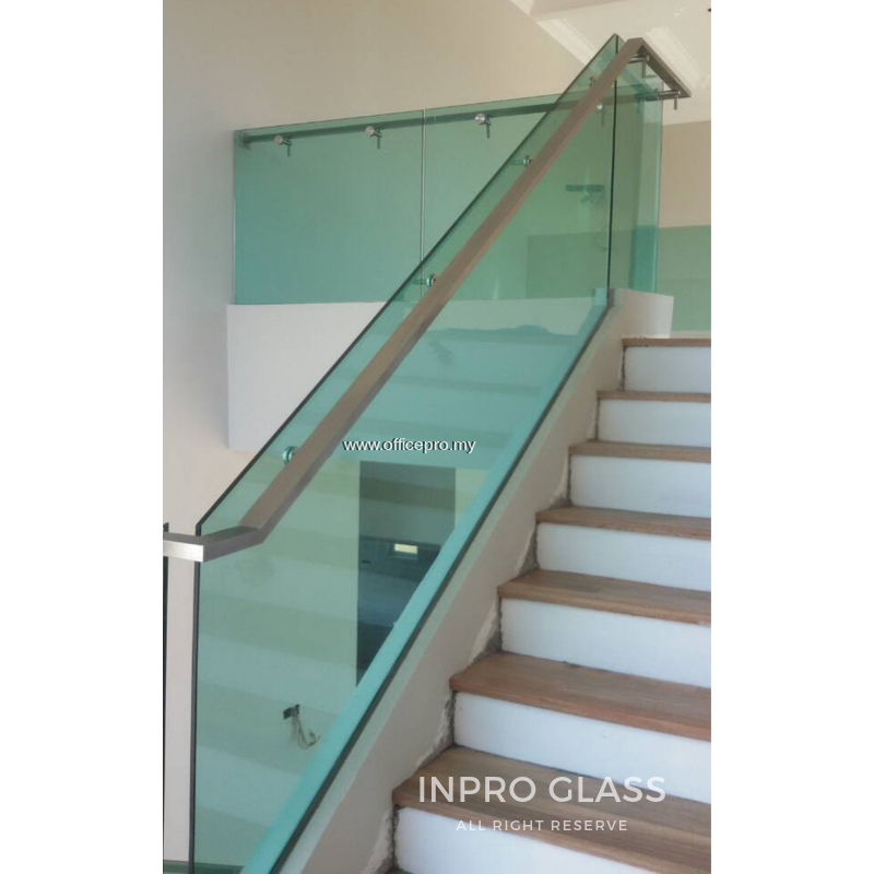 IPGRSS-12 12MM TEMPERED GLASS RAILING-STAIRCASE (WITH STAINLESS STEEL HANDLE)