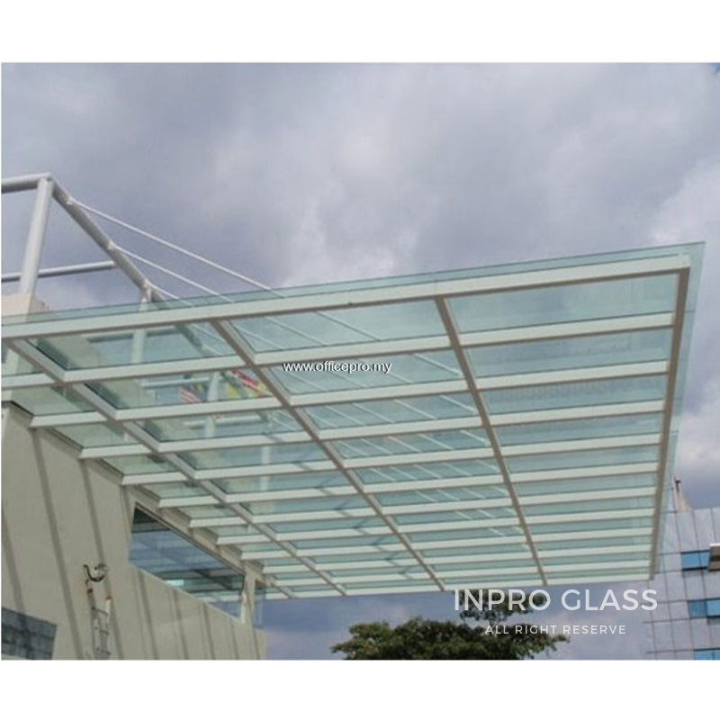 IPGA-66 6MM + 6MM LAMINATED GLASS WITH ALUMINIUM RAILING AWNING
