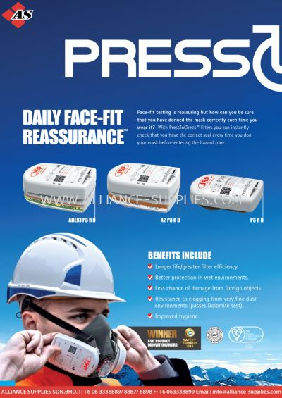 JSP PressToCheck - Daily Face-Fit Reassurance