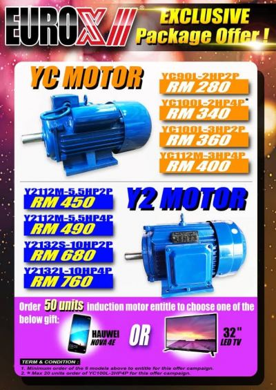 Eurox YC Induction Motor 2HP 1500RPM