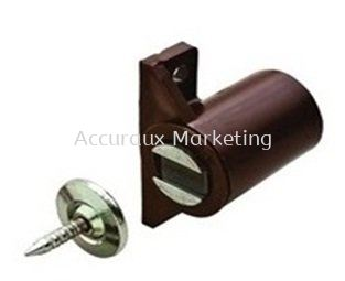 Magnetic Catch With Counter Piece, Brown