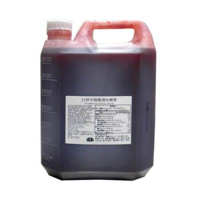 STRAWBERRY CONC.SYRUP TW 5.0KG