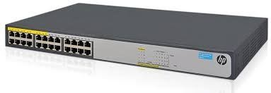 HPE 1420 24G PoE+ (124W) Switch (Ports 1 thru 12 are POE+)