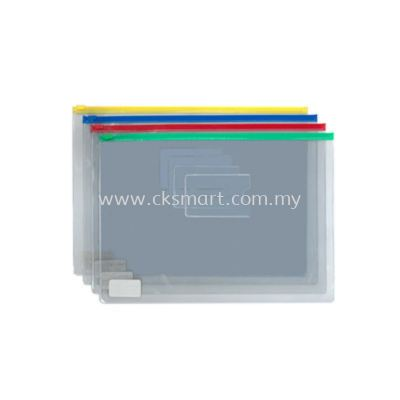 A5 ZIPBAG PVC ASSORTED COLORS
