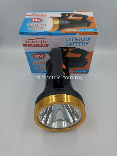 MINLITE ML-2688 10W LED RECHARGEABLE TORCH LIGHT