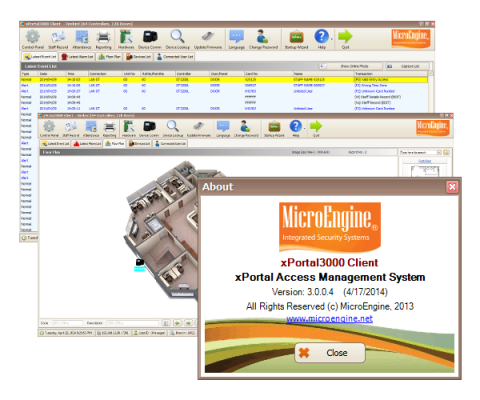 xPortal3000. MicroEngine Management Software