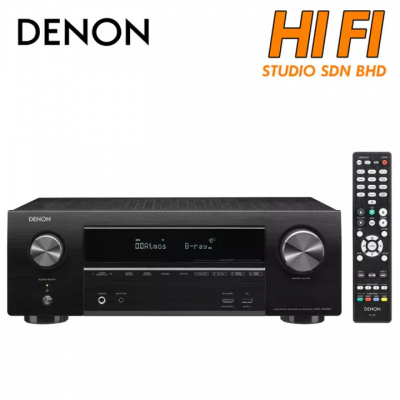 Denon AVR-X1600H 7.2ch 4K Ultra HD AV Receiver with 3D Audio and HEOS 7.2 Channel Wi-Fi®, Bluetooth®, Apple® AirPlay®
