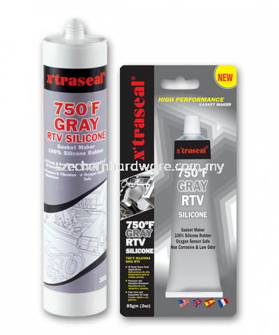X'TRASEAL 750'F GRAY RTV SILICONE GASKET MAKER