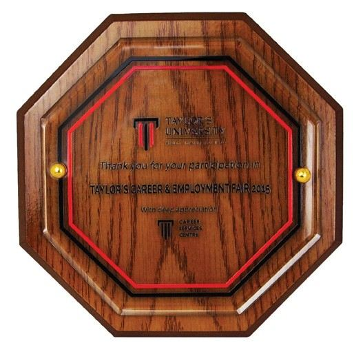 3062 Wooden Crystal Plaque