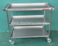 Stainless Steel 3 Tier Trolley 白钢3层推车