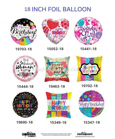 (HAPPY BIRTHDAY) 18 INCH KALEIDOSCOPE FOIL BALLOON