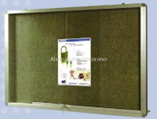 Aluminium Frame Stick On Board Sliding Glass Cabinet