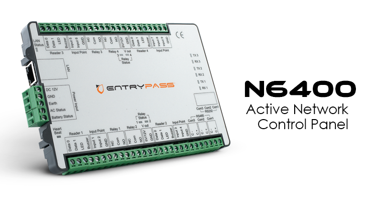 N6400. Entrypass Active Network Control Panel