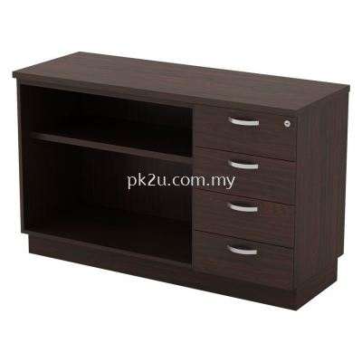 SC-YOP-7124 - Open Shelf + Fixed Pedestal 4D