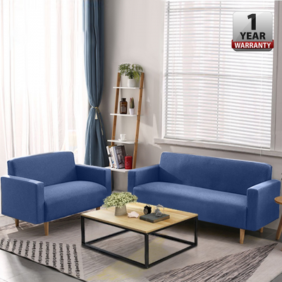 LIKE BUG : BUY 1 FREE 1 - OSKAR 3 Seater Free 2 Seater Fabric Sofa with [Optional Stool]