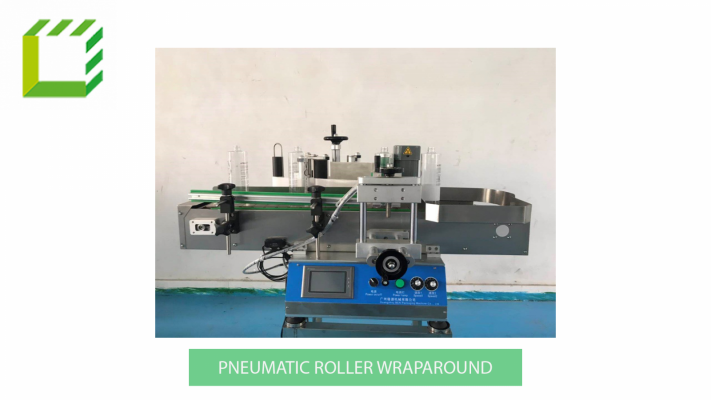 Desktop Pneumatic Roller Wraparound Labelling Machine (China)