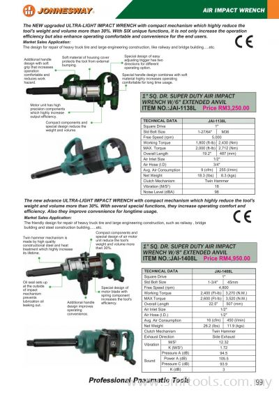 JONNESWAY AIR IMPACT WRENCH