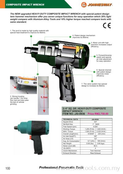 JONNESWAY COMPOSITE IMPACT WRENCH