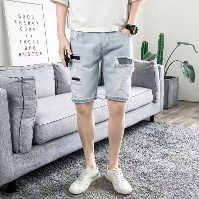 DC SHORT RIPPED JEANS 01