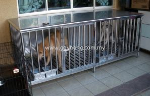 Stainless Steel Pet Cage (Dog Cage)白钢宠物笼 (狗笼)