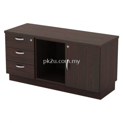 SC-YRP-6123 - Fixed Pedestal 3D + Open Shelf + Swinging Door (R)