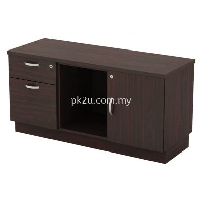 SC-YRP-6122 - Fixed Pedestal 1D1F + Open Shelf + Swinging Door (R)