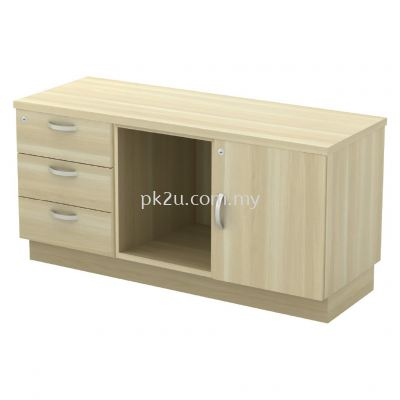SC-YRP-6123 - Fixed Pedestal 3D + Open Shelf + Swinging Door (L)