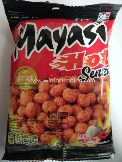 MIYASI PEANUT HOT SENZA GARLIC CHILI FLAVOR 65G NEW PACKING BR 8991002502390 65G HALAL