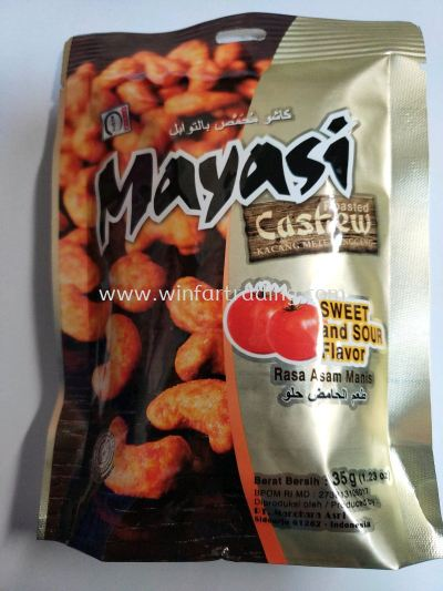 MIYASI ROASTED CASHEW NUT SWEET AND SOUR FLAVOR  35G HALAL BC 8991002502970