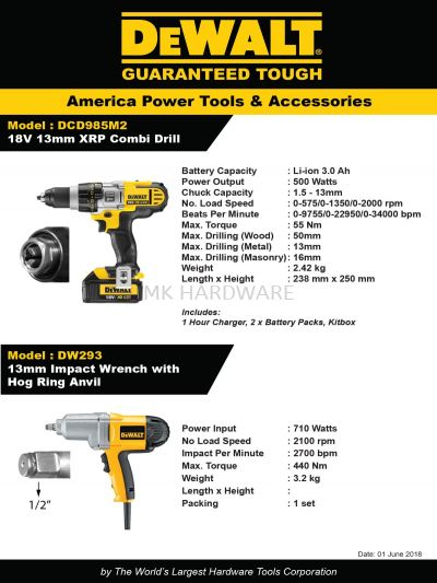 IMPACT WRENCH/ROTARY DRILL/DEMOLITION HAMMER