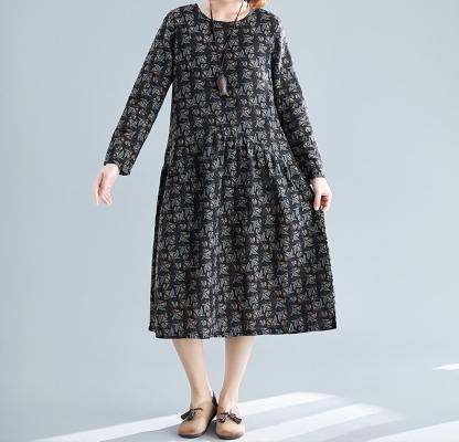Sheisahero Korea Printed Flora Dress 801242