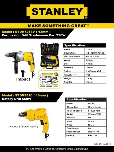 STANLEY PRECUSSION / ROTARY DRILL