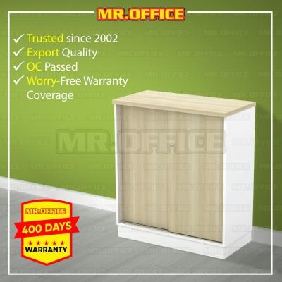 MR.OFFICE : B-YS9 800W x 400D x 910H (mm) Sliding Door Low Cabinet / Almari Pejabat Rendah