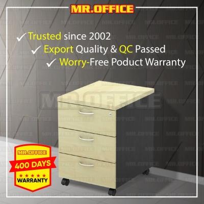 MR.OFFICE : GM-3 400W x 480D x 560H (mm) Mobile Pedestal 3-Drawer / Laci Mudah Alih