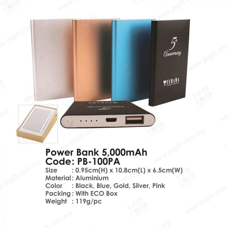 Power Bank 5,000mAh PB-100PA Power Bank