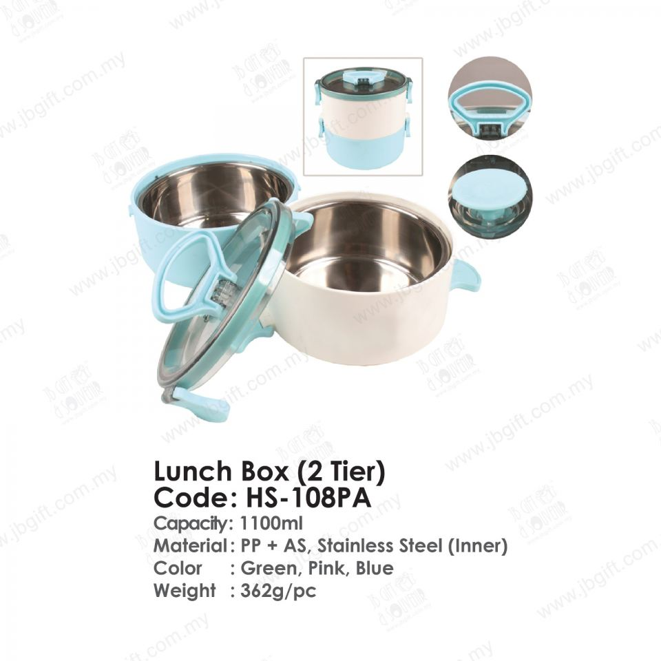 Lunch Box (2 Tier) HS-108PA Food Container Household