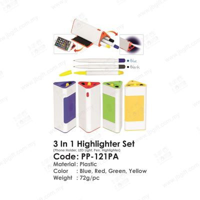 3 In 1 Highlighter Set PP-121PA