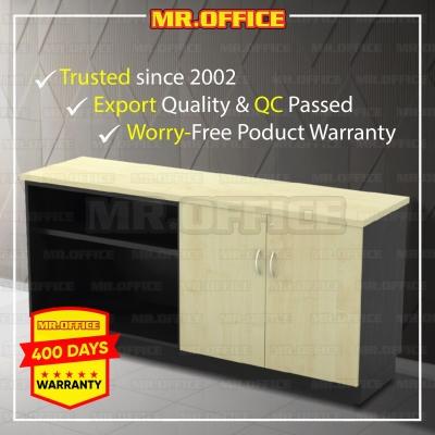 MR.OFFICE : T-YOD7160 1600W x 450D x 750H (mm) Combination Low Cabinet (Open Shelf + Swinging Door) / Kombinasi Almari Pejabat Rendah