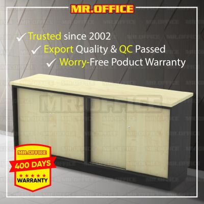 MR.OFFICE : T-YSS7160 1600W x 450D x 750H (mm) Combination Low Cabinet (Dual Sliding Door) / Kombinasi Almari Pejabat Rendah