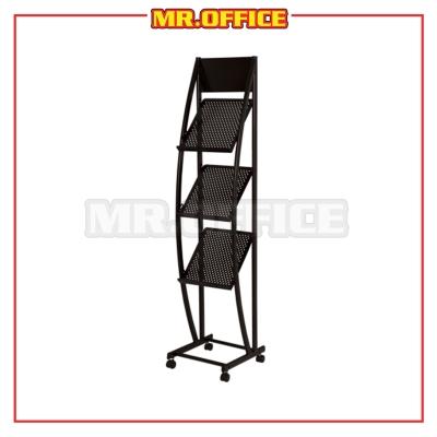 MR.OFFICE : MR-1518 3 Tier Magazine Rack / Almari Majalah