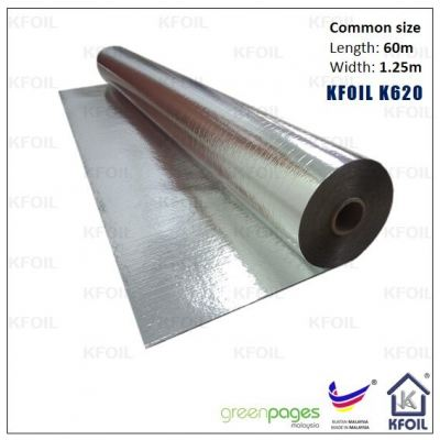 (K620) D/S Reflective Metalized Paper Film, Polyester Yarn Reinforced