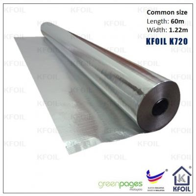 (K720) D/S Reflective Aluminium Paper Foil, Polyester Yarn Reinforced