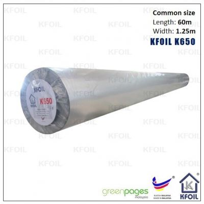 (K650) Double Sided Reflective Metalized Woven Film