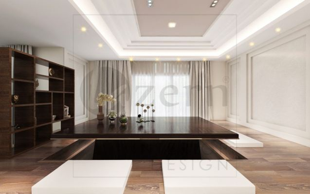 Tatami table is one of the Signature in this Master bedroom.